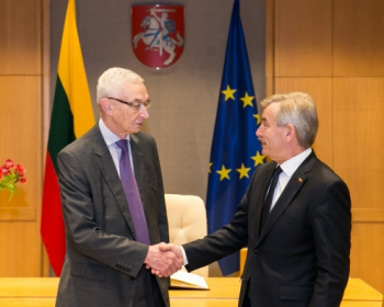 Speaker of the Seimas Viktoras Pranckietis expresses support to EHU mission