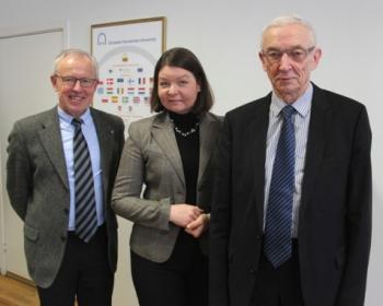 Ambassador of Estonia meets EHU leadership