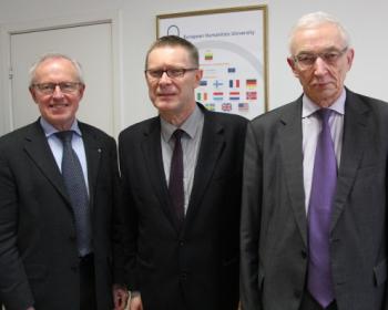 EHU academic development discussed with Latvia's Ambassador
