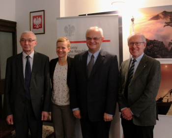 """Subscribe     Ambassador J. Czubiński: """"Poland is happy to be a long-standing friend and supporter of the mission of EHU"""""""