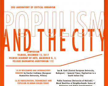 "EHU invites to a symposium ""Populism and the City"""