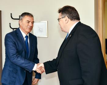 EHU Rector Prof. Ignatov meets Lithuania's Foreign Minister Linkevičius